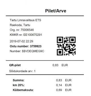 ebe62f5a2d1 QR-piletiga on võimalik tasuda ka mitme kaasreisija sõidud ühe korraga,  valides nooltega vastava piletite arvu tuvastist ja kinnitades ostu  QR-koodi ...