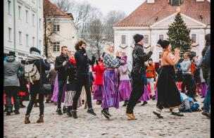 Embedded thumbnail for Wintry Tartu Folk Dance Day 2019